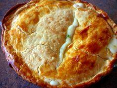 Chicken Pot Pie.  Milk, chicken broth, flour.