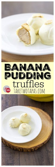 Banana Pudding is a classic Southern dessert that is loved by many and these Banana Pudding truffles are that special dessert all rolled into one bite! Vanilla wafers, ripe bananas, rolled up and dipp (Chocolate Banana Pudding) Southern Desserts, Just Desserts, Delicious Desserts, Yummy Food, Trifle Desserts, Healthy Food, Fudge, Candy Recipes, Sweet Recipes