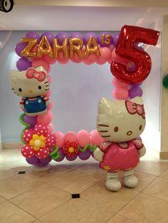 hello kitty balloon frame