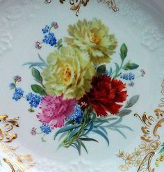 Meissen-Prunkschale-Blumenmalerei-naturalistisch-Neumarseille-sehr-gross-ALT