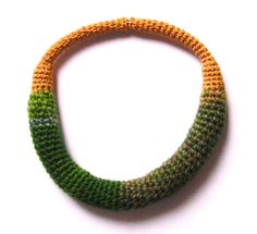Yarn in Use Crochet Necklace, Beaded Necklace, Textile Jewelry, Jewelry Design, Beaded Collar, Crochet Collar, Beads