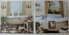$19.99 Set of 2 Bathroom Art Prints, by Elizabeth Medley