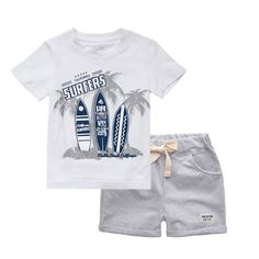 Little Boy Outfits, Toddler Boy Outfits, Kids Outfits, Baby Boy Doll Clothes, Short Niña, Baby Boy T Shirt, T Shorts, Beach Kids, Boys Suits