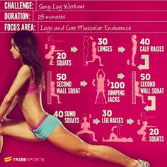 Here's A Legs Challenge Easy Workouts That You Can Do To Get Nice Toned Legs ! Takes Only 15 Min