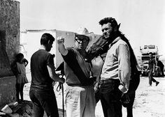 Clint Eastwood On the set with Sergio Leone.