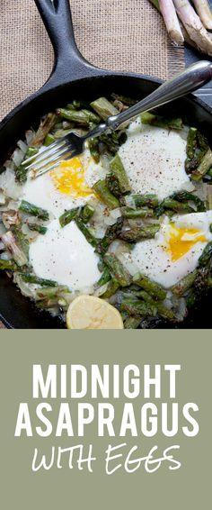 Midnight Asapragus with Eggs