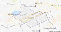 Mapa do Bairro Bigorrilho, Curitiba - PR. Fonte: Google Maps.