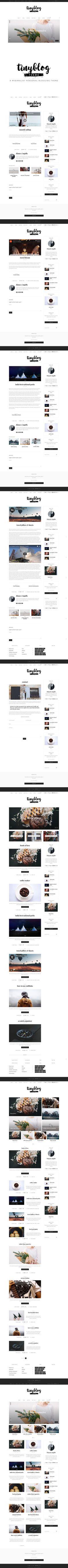 tinyblog - minimalist personal blog. WordPress Blog Themes. $39.00
