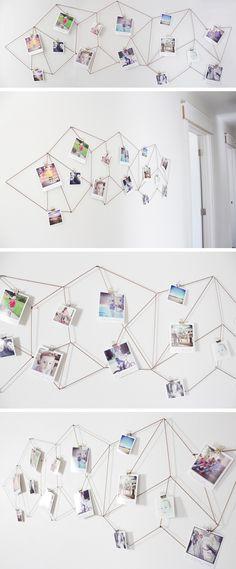 Geometric Photo Display diy diy ideas diy crafts do it yourself crafty geometric…