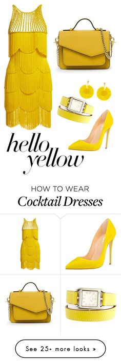"""Awesome yellow"" by harper1311 on Polyvore featuring Naeem Khan, Hermès, Oscar de la Renta, Botkier, PopsOfYellow and NYFWYellow"