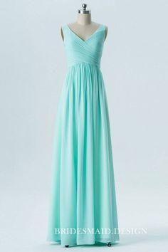 27a77a3df96b Delicate pleated bodice, sleeveless V-neck, empire waist floor length A-line