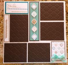 Stampin up Scrapbook page - Mosaic Madness