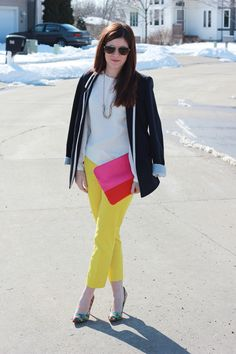 Pops of Color | Printed Pants | The Brunette One #WearWallisFashion