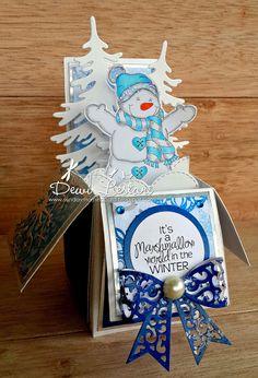 Die Cuttin Divas: Ch Cheer up Pop Up Christmas Cards, Xmas Cards, Holiday Cards, Christmas Crafts, Origami, Box Cards Tutorial, Pop Up Box Cards, Card Boxes, Exploding Box Card