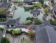 Classical Gardens of Suzhou, China Garden Of Cosmic Speculation, Chinese Courtyard, Japanese Style House, China Garden, Chinese Landscape, Courtyard House, Japanese Architecture, Architecture Office, Futuristic Architecture