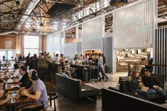 The Source in Denver: An artisan food market occupying a former 1880's brick foundry building in the River North District.