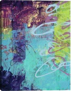 Urban Scape IV Abstract Canvas Wall Art Print by Todd Camp
