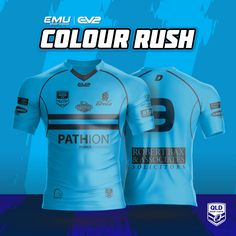 EMU Sportswear Kitbuilder allows any team to choose their items & customise them to suit their teams colours & style. Jersey Designs, Power Forward, Brisbane Queensland, Color Rush, Team Wear, Rugby League, Broncos, Team Logo, Sportswear