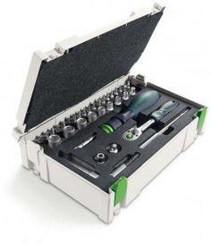 FESTOOL 37Pc. Screwdriver & socket ratchet set-497881