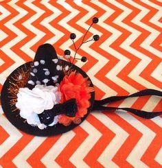 Mini Halloween Witch Hat Headband Photo Prop by LaBandeauxBowtique, $12.00