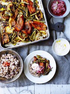 Rice & peas with jerk roasted veg | Jamie Magazine | Edition 65