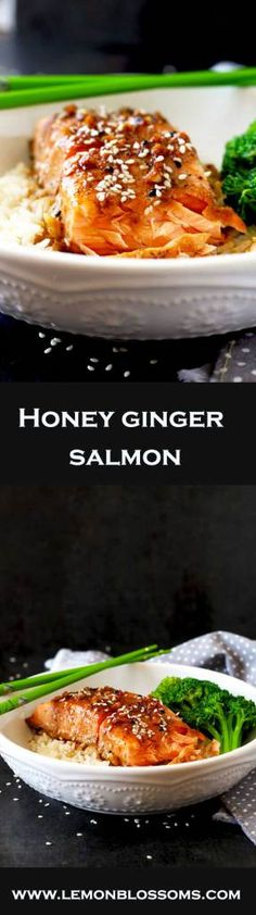 This Asian inspired Honey Ginger Salmon is not only delicious but super easy to make. The best part is you can have dinner ready in 20 minutes!