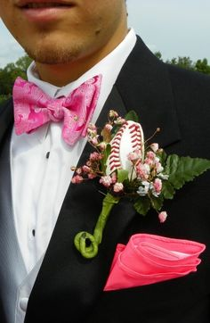 My son's Senior prom was a great success! Two weeks before the prom, it was the last home baseball game for the Wharton Wildcats. The dads all received a Sports Rose boutonniere!