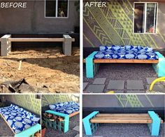 Cinder Block Bench Tutorial
