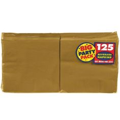 Amscan Big Party Pack 125 Count Luncheon Napkins, Gold Big party pack luncheon napkins 125 count Make your party special with these classis luncheon napkins Bright and vibrant color 125 count per order Made in the USA Party Napkins, Dinner Napkins, Cocktail Napkins, First Birthday Party Decorations, Tea Party Birthday, Theme Parties, Halloween Party Supplies, Disposable Tableware, Beverage Napkins