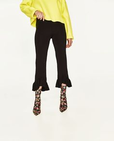 Image 2 of KNIT TROUSERS WITH FRILLED HEMS from Zara