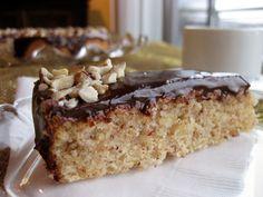 Hazelnut Brown Butter Cake with Chocolate Ganache (From Bakergal.com)