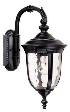 "Bellagio™ 16 1/2"" High Downbridge Black Outdoor Light"