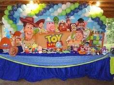 Better balloon banner Toy Story party decoration by Kylla'sweets, via Flickr