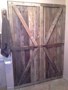Super porte de garde robe en bois de grange