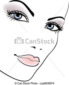 Vetor - beleza, menina, rosto, bonito, mulher, vetorial, Retrato - estoque de ilustração, ilustrações royalty free, banco de ícone clip arte, banco de ícones clip arte, fotos EPS, fotos, gráfico, gráficos, desenho, desenhos, imagem vetorial, arte vetor EPS.