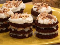 "Almond Joy 3-Layer Cupcakes => SOURCE: @Bendrix ""Shock and Awe Sweets .ME"" Board via."