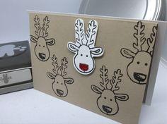 Hallöchen, heute habe ich eine Weihnachtskarte für euch. Gestempelt habe ich mit dem Stempelset Ausgestochen weihnachtlich und ausgestanzt mit der dazu passenden Elementstanze Lebkuchenmännchen. B…