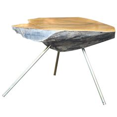 Treetrunk Table No 42 by   Carl Aubock Austria.  Rare dramatic tree trunk table by Carl Aubock from a series of tables made in the 1950s thought to be particularly bold. No 35 was shown at the Austrian pavilion at the World Exposition in 1955, Sigmar