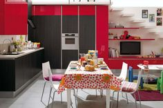 #Red space in total #living - more info @ www.iuorioarredamenti.it