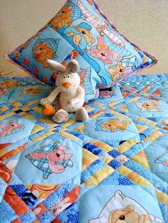 Купить Лоскутное детское одеяло Спокойной ночи малыши - лоскутное одеяло, детское лоскутное одеяло