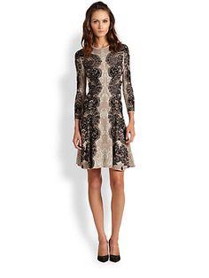Alma Stretch-Silk Knit Dress - Zoom - Saks Fifth Avenue Mobile