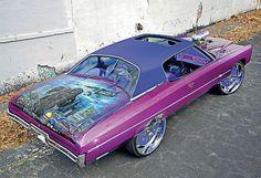 King Kong 1971 Chevrolet Impala coupe. #donk