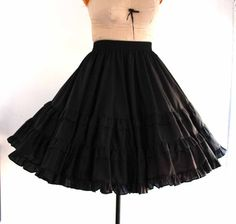 black full circle skirt  vintage rockabilly square by aorta, $28.00