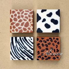 Cool! Animal print soap designs! Love the idea of zoo soap!
