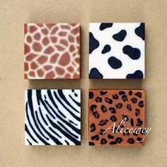 Cool! Animal print soap designs! Love the idea of zoo soap!