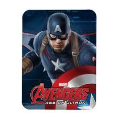 Captain America Character Art Rectangular Photo Magnet | Avengers Age of Ultron officially licensed merchandise