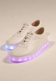 SPOR AYAKKABI Disco Beyaz Multicolur Işıklı Taban Spor Ayakkabı