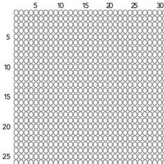 Square Stitch Graph Paper - Size 11 Seed Beads | Fusion Beads Inspiration Gallery