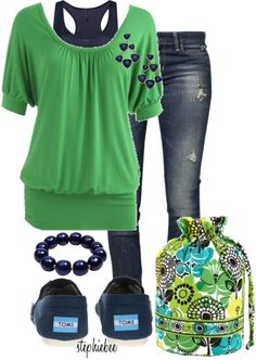 """""""Vera Bradley Ditty Bag"""" by stephiebees on Polyvore"""