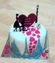 Anniversary Cake*paris buildings